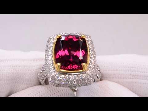 Rhodolite Garnet Ring 7.75 carats
