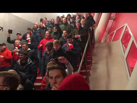 SI SENOR BOBBY FIRMINO SONG | LFC FANS CELEBRATING OUTSIDE THE ALLIANZ