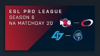 CS:GO: NRG vs. compLexity | CLG vs. Rogue - Day 20 - ESL Pro League Season 6 - NA 2nd Stream
