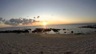 Time lapse, beach, Mauritius 2K15