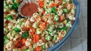 Tricolor Party Popcorn Recipe in Tamil