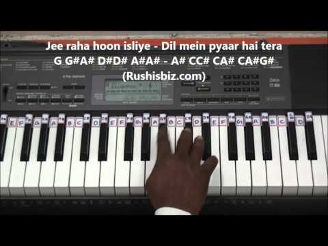 Roja Jaaneman Piano Tutorials - Roja Movie (Hindi)