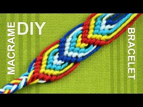 How to Macrame Leaves - Friendship bracelet - nice on both sides.