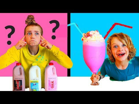 Twin Telepathy Milkshake Challenge!! (THE GREATEST EVER) SIS VS BRO style ft The Norris Nuts