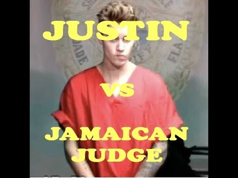 Justin Bieber vs Jamaican Judge