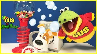 Kids Pretend Play Toys Store Hunt Gumball Machine! Gus learns to save money Family Fun Kids Video