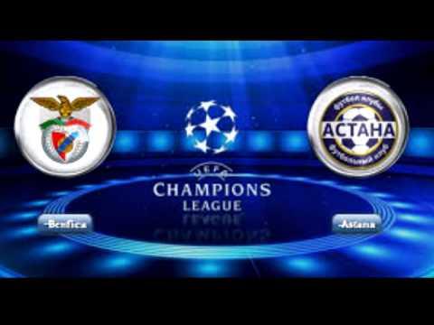 بنفيكا  vs إف سي أستانا   -Benfica vs FC Astana  -UEFA Champions League