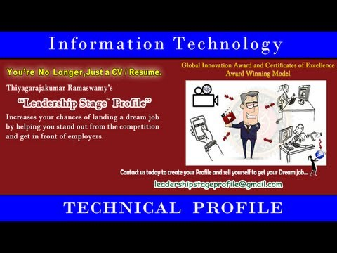 Leadership Stage (Education to Dream Employment) System Profile – Information Technology Prof