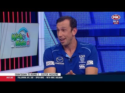 Todd Goldstein appears on AFL 360 - Fox Footy (April 16, 2019)