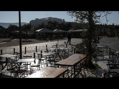 COVID-19: Άδειο το κέντρο της Αθήνας (vid)