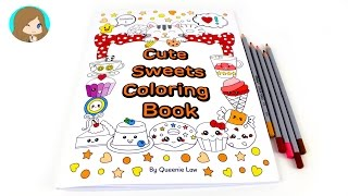 Video Review: Cute Sweets Coloring Book with Colored Pencils