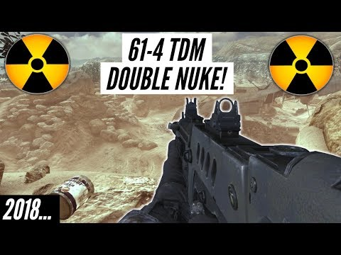 Mw2- Insane 61 Kill Double Nuke In Tdm! (live)