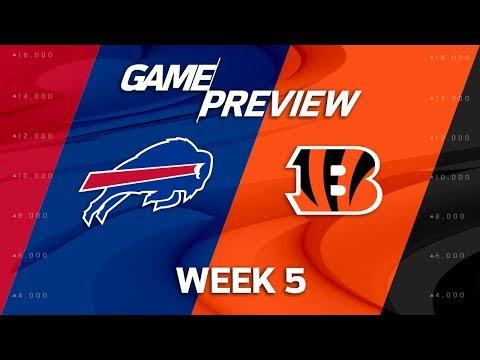 Video: Buffalo Bills vs. Cincinnati Bengals | Week 5 Game Preview | NFL Playbook