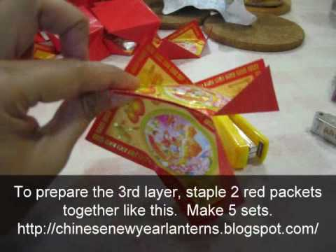 How to make a Flower Ball Chinese New Year Lantern using Red Packets