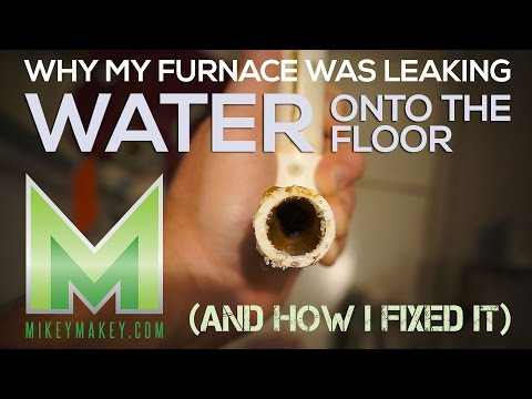 How to stop a furnace from leaking water onto the floor! (Unclogging the condensate drain line)