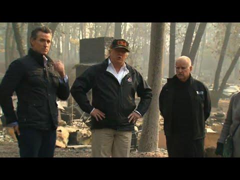 USA: 71 Tote, Tausende Vermisste - Trump besucht Wald ...