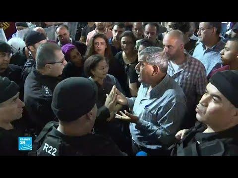 العرب اليوم - شاهد: السلطة الفلسطينية تفرق مظاهرة تضامنية مع غزة في رام الله