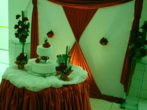 Fabricando Sonhos decoração de casamento vermelha e Bca