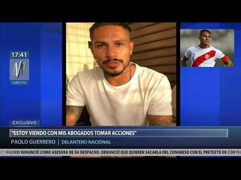 La declaración de Guerrero tras su exclusión al Mundial de Rusia (VÍDEO)