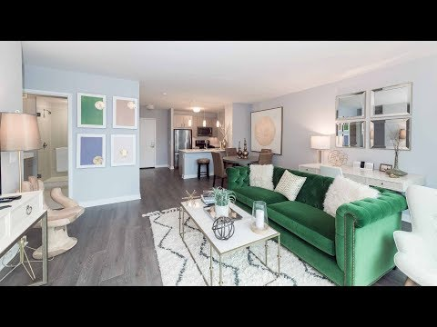 A spacious one-bedroom model at the Loop's new Marquee at Block 37