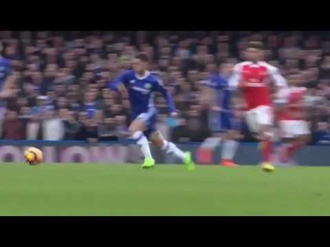 Eden Hazard Amazing Goal - Chelsea vs Arsenal 3-1 - Premier League 04 02 2017