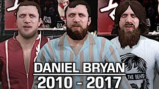 We take a look at the evolution of Daniel Bryan from 2010 to 2017!Show some love by leaving a like, sharing and subscribing for more awesome videos like these!OUTRO MUSIC: Undertaker's Rollin Theme Cover by JAYDEGARROWJAYDEGARROW's YouTube: https://www.youtube.com/channel/UCit4zHRRYaU5Og8ZHqvA7jQFOLLOW ME HERE:Facebook: https://www.facebook.com/julian.rosado.14Twitter: https://twitter.com/Jules1451Instagram: https://www.instagram.com/jules1451/Snapchat: @Jules1451Want to see more WWE 2K16 & WWE 2K17 Content? Visit this link for more! http://www.thesmackdownhotel.com
