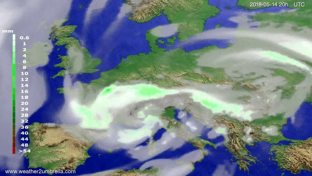 Precipitation forecast Europe 2018-05-12