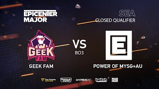 GeekFam vs MYSG, EPICENTER Major 2019 SA Closed Quals , bo3, game 3 [Mila & Mortalles]