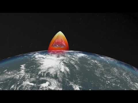 Минобороны представило видео комплекса «Авангард» сгиперзвуковым планирующим крылатым блоком