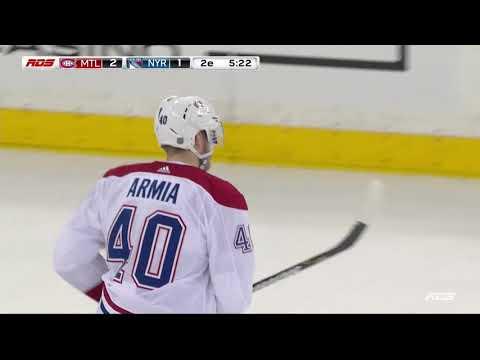 Joel Armia 2-1 Goal - Canadiens @ Rangers - 03012019 (FR)