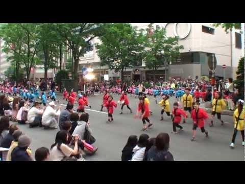 つぼみ幼稚園 〜2012YOSAKOIソーラン祭り(札幌四番街)