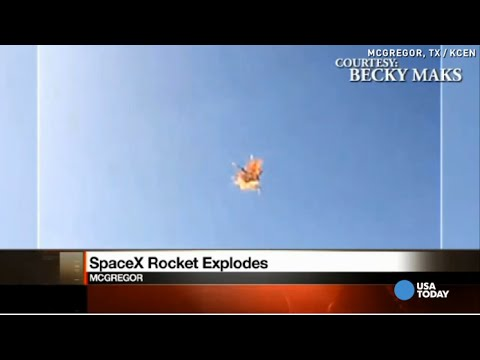 explosion - SpaceX said the Falcon 9-R rocket auto-terminated after detecting an anomoly during a test flight in McGregor, Texas. No one was hurt. Following the explosion, CEO Elon Musk tweeted