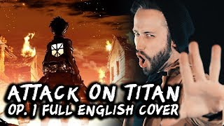 Jonathan Young's full english cover of Attack on Titan OP 1, Guren No Yumiya►DOWNLOAD NOW:►ITunes: http://apple.co/2r8OYLe►Google Play: http://bit.ly/2tataiS►Amazon: http://amzn.to/2rkCzTS►Spotify: http://spoti.fi/2scJjag►►►FEAT. ERIC CALDERONEhttps://www.youtube.com/user/331Erocksay hi►Twitter - http://twitter.com/jonathanymusic (@jonathanymusic)►Insta - http://instagram.com/jonathanymusic (@jonathanymusic)►Facebook - http://facebook.com/jonathanyoungmusic►CONTACT - jonathanyoungmusic@gmail.com►MERCH: http://jonathanyoungmusic.com►Donate and support me:https://www.patreon.com/jonathanyoung?ty=h►Video by Travis Carte (@travisdcarte) -----------------------------------------------------------Lyrics adapted for lyrical flow & rhyme in english by Jonathan YoungAre you the prey?No, we are the hunters!flowers with their names forgottentrampled into dust they're fallenbirds with broken wings are cryingwind can never take them flyingwaste your precious moments praying but god's not here and nothing's changingif you want to fix your fate thenchange it with determinationpigs will sneer at the steadfastas we climb o'er the dead keep advancing aheadlive your life in peace like you're just a sheep butwolves will never lose their freedom~Sick of the cage, that's just the beginningwe're a disgrace until we're winningover the walls like hunters, we're fightingthey're not the predators anymorehungry to kill, you'll never forget thispiercing the sky with scarlet vengeancebloody the bow and arrow in crimson,rally the hunters to wardraw the bow now, chase the prey now, don't you let it get awayloose the arrow now, got it cornered now, never let it get awaystring is tightening, arrow lightening, bow is just about to breakendless volleying, hunters rallying, till we execute the prey it's not the weapon nor the skill thatgives you strength to make the kill, no you must be resolute, unbreakable and definite in will, oh!We are the hunters - ever blazing like a fire We are the hunters - eve