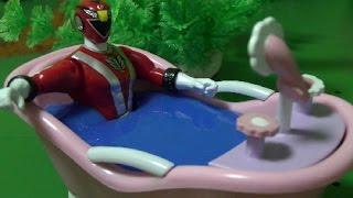 đồ chơi siêu nhân Cơ Động  Power Rangers RPM Go Ongers Toys Bath Time 파워레인저 엔진포스 목욕놀이 장난감, xem phim sieu nhan co dong, phim sieu nhan co dong moi nhat