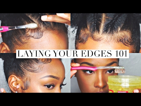 Laying Your Edges 101 | FabulousBre (видео)