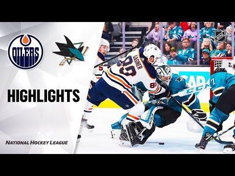 NHL Highlights  Oilers  Sharks 111219