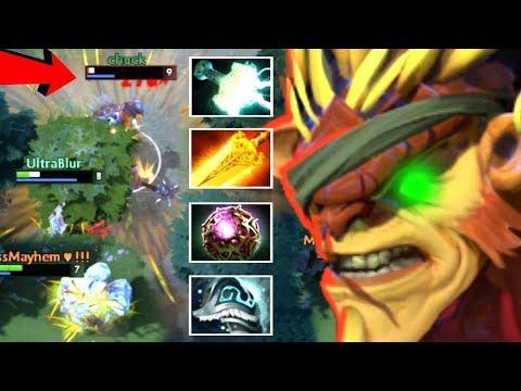"Most ""Balanced"" Hero in Dota 2 - Bristleback +61 Stack Damage Cancer Gameplay by Eagle Dot"