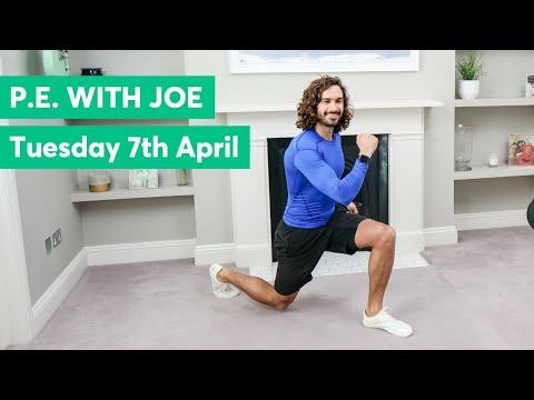 P.E With Joe   Tuesday  7th April 2020