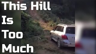 This could've ended just fine...if he would use the freakin' steering wheel when reversing down the hill. There is also a new webpage http://www.randomcarvideos.com where you can find even more car videos. Don't forget to subscribe and give the video a thumbs up, thanks!
