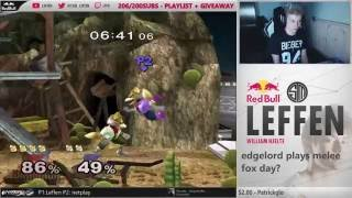 Leffen takes 95 stocks in a row on netplay