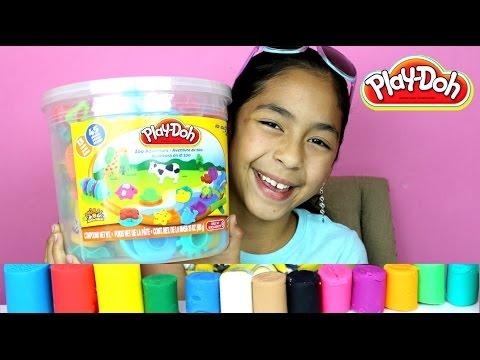 Tuesday Play Doh Huge Play Doh Bucket Adventure Zoo|B2cutecupcakes (видео)