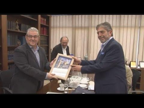 Με τον πρέσβη του κράτους της Παλαιστίνης στην Ελλάδα συναντήθηκε ο Δ. Κουτσούμπας