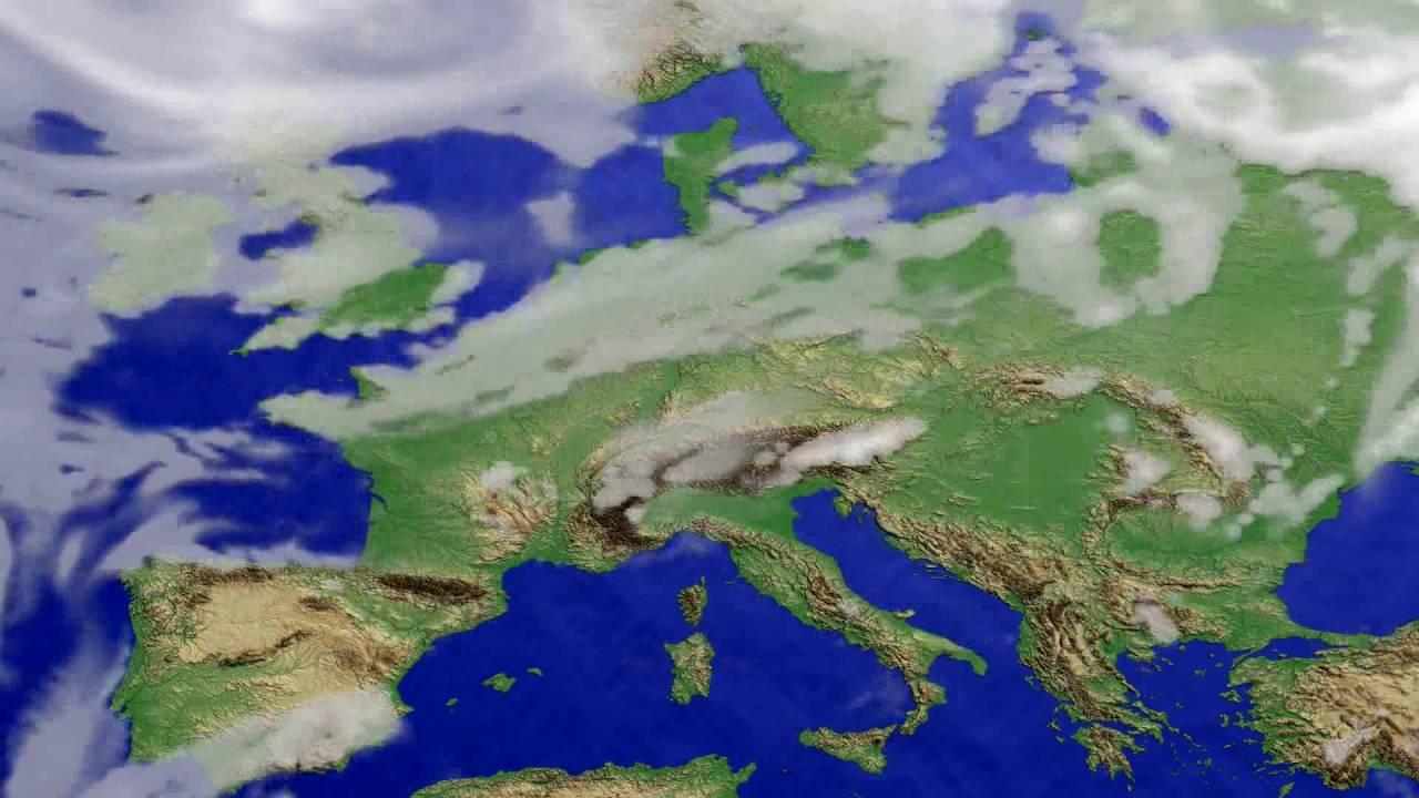 Cloud forecast Europe 2016-07-28