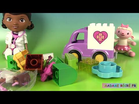 Docteur la peluche Lego Duplo Rosie l'ambulance Rosie Peppa Pig Malade Doc McStuffins Lego Ambulance