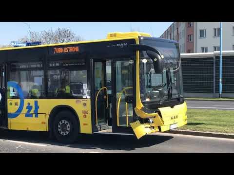 Wideo: Kolizja skody z autobusem w Lubinie
