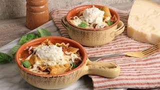 One Pot Lasagna Soup   Episode 1106 by Laura in the Kitchen
