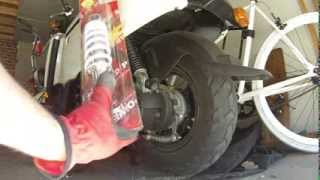 8. How to Change Replace the Rear Suspension Shock and Air Filter on a Yamaha C3 Scooter