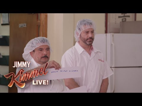 Jimmy Kimmel Visits a Fortune Cookie Factory