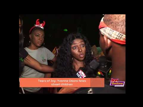 Yvonne Okoro Sheds Tears As She Fetes Street Children