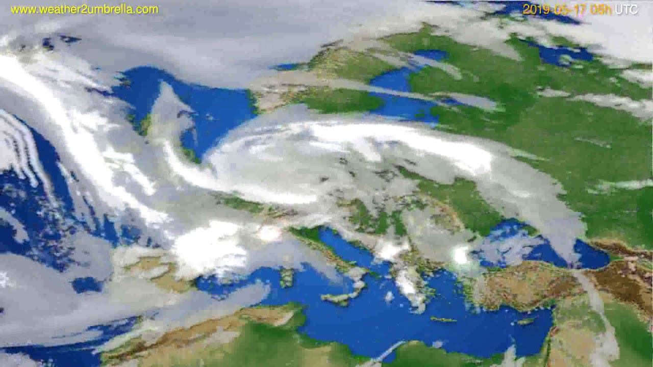 Cloud forecast Europe // modelrun: 12h UTC 2019-05-14